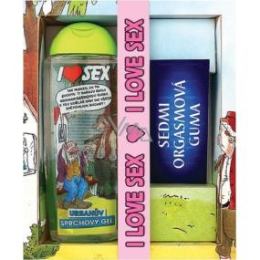 Bohemia Urbanův balíček I Love Sex sprchový gel 300 ml + dárkový kondom, kosmetická sada