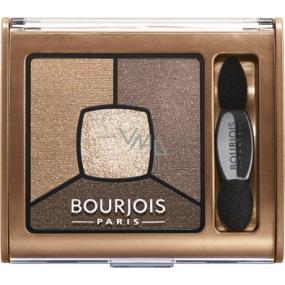 Bourjois Smoky Stories Quad Eyeshadow Palette oční stíny 06 Upside Brown 3,2 g