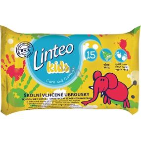 Linteo Kids školní vlhřené ubrousky 15 ks