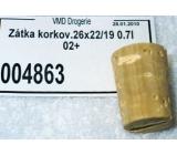 Korková Zátka korková 26 x 22 / 19 0.7 l