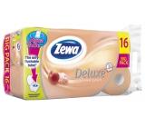 Zewa Deluxe Aqua Tube Cashmere Peach parfémovaný toaletní papír 3 vrstvý 150 útržků 16 kusů, rolička, kterou můžete spláchnout