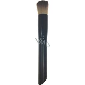 Kosmetický štětec na make-up kulatý rovný vlas černá rukojeť 15 cm 30450