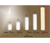 Lima Gastro hladká svíčka slonová kost válec 50 x 300 mm 1 kus
