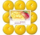 Bolsius Aromatic Sweet Mango - Sladké mango vonné čajové svíčky 18 kusů, doba hoření 4 hodiny