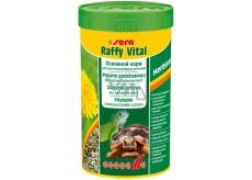 Sera Raffy Vital granulované základní krmivo pro suchozemské želvy a všechny ostatní býložravé plazy 250 ml