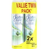 Gillette Satin Care With Aloe Vera Sensitive Skin gel na holení pro ženy 2 x 200 ml, duopack