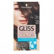 Schwarzkopf Gliss Color barva na vlasy 4-36 Zlatavý hnědý 2 x 60 ml