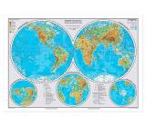 Ditipo Mapa Zemské polokoule a Přírodní zajímavosti nej Země A3