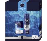 Nivea Men Protect & Care Shave Kit 2v1 voda po holení 100 ml + pěna na holení 200 ml, kosmetická sada pro muže