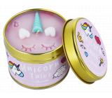 Bomb Cosmetics Pohádky o jednorožci - Unicorn Tales Vonná přírodní, ručně vyrobena svíčka v plechové dóze hoří až 35 hodin