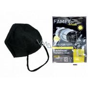 Famex Respirátor ústní ochranný 5-vrstvý FFP2 obličejová maska černá 1 kus