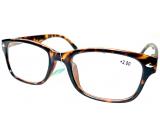 Berkeley Čtecí dioptrické brýle +2 plast hnědé tygrované 1 kus MC2197