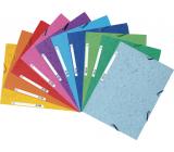 Exacompta Spisové desky s gumičkou a štítkem A4 maxi, prešpán, 1 kus, mix 10 barev