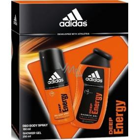 Adidas Deep Energy deodorant sprej 150 ml + sprchový gel 250 ml, kosmetická sada