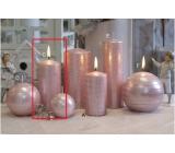 Lima Galaxy svíčka růžová válec 60 x 120 mm 1 kus