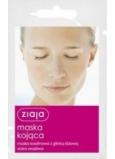 Ziaja Růžový jíl kaolinová pleťová maska citlivá pleť 7 ml