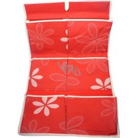 Kapsář na zavěšení látkový červený 59 x 35 cm 1 kus 674