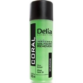 Delia Coral Acetone Free odlakovač na nehty zelený 100 ml