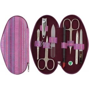 Dup Manikúra Gita kožená 8 dílná Růžová vzor 230401-384