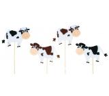 Zápich Strakatá kravička 7,5 cm + špejle 1 kus