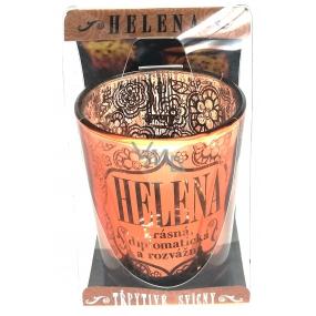 Albi Třpytivý svícen ze skla na čajovou svíčku HELENA, 7 cm