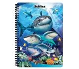 Prime3D sešit A5 - Žraloci Selfie 14,8 x 21 cm