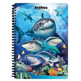 Prime3D Sešit A5 Žraloci Selfie 14,8 x 21 cm