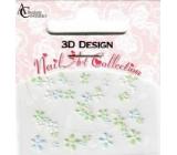 Absolute Cosmetics Nail Art 3D nálepky na nehty 10100-3 1 aršík