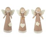 Anděl jutový s krajkou na postavení 18 cm 1 kus