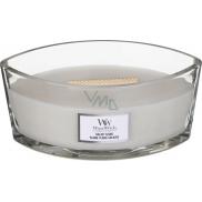 WoodWick Solar Ylang - Sluneční Ylang vonná svíčka s dřevěným širokým knotem a víčkem loď 453 g
