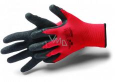 Schuller Eh klar Allstar Crinkle Rukavice pracovní s latexovou úpravou a vrásněním, velikost XL/10