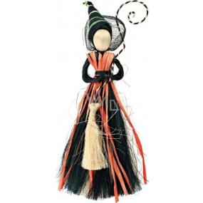 Čarodějnice černooranžová 25 cm