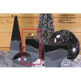 Lima Artic svíčka černá hranol 65 x 150 mm 1 kus