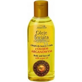 Joanna Oil Of The World Olej na tvář a tělo s arganovým olejem 100 ml