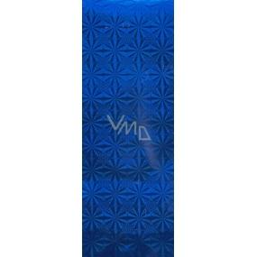 Nekupto Dárková papírová taška na láhev 33 x 10 x 9 cm modrá hologramová 050 40 THLH