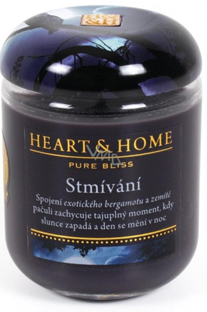 Heart & Home Stmívání Sojová vonná svíčka velká hoří až 70 hodin 310 g