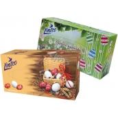 Linteo Velikonoční papírové kapesníky bílé 2 vrstvé 80 kusů