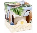 Heart & Home Kokosové pohlazení Sojová vonná svíčka bez obalu hoří až 15 hodin 53 g