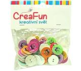 CreaFun Dřevěné knoflíčky Smile mix barev 40 kusů