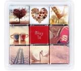 Albi Čokosnímky III Miluji Tě bonboniérka z 9 malých mléčných čokoládek 45 g