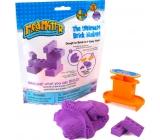 Mad Mattr Kinetický písek modelovací Formička Vytvoř cihličku fialová 57 g