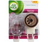 Air Wick Smooth Satin & Moon Lily - Jemný satén a měsíční lilie elektrický osvěžovač vzduchu komplet 19 ml