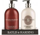 Baylis & Harding Černý pepř a Ženšen tekuté mýdlo 500 ml + mléko na ruce 500 ml, pro muže kosmetická sada
