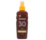 Nubian OF30 Voděodolný olej na opalování 150 ml sprej