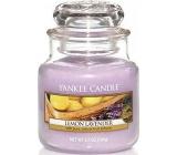 Yankee Candle Lemon Lavender - Citron a levandule vonná svíčka Classic malá sklo 104 g