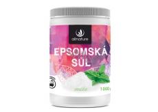 Allnature Epsomská sůl Hořčík, Síran a Máta do koupele uvolňuje svaly, odbourává stres, detoxikuje organismus 1000 g