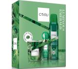 C-Thru Luminous Emerald toaletní voda pro ženy 30 ml + deodorant sprej 150 ml + vonná svíčka, dárková sada