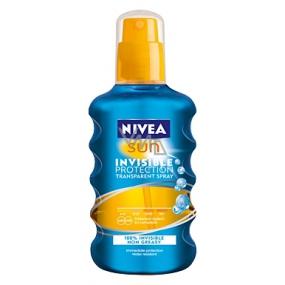 Nivea Sun Invisible Protection OF10 neviditelný sprej na opalování 200 ml