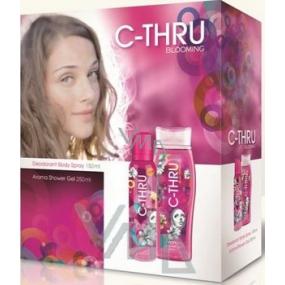C-Thru Blooming deodorant sprej 150 ml + sprchový gel 250 ml, pro ženy kosmetická sada