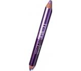 Princessa Davis Eye Double Colour stínovací tužka na oči 011 Fialová se třpytkami 6 g